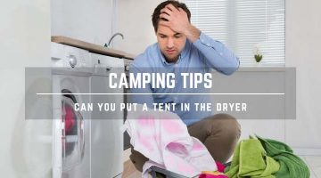 drying a tent in dryer