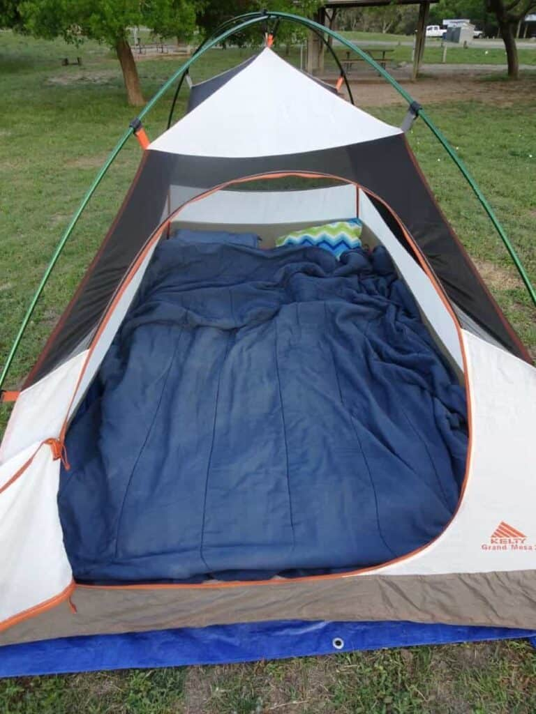 awesome tent sleeping solution