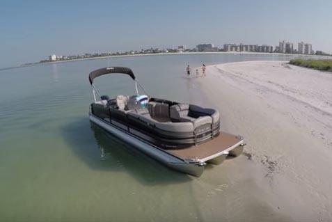 pontoon boat ocean