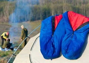 quilts and sleeping bag