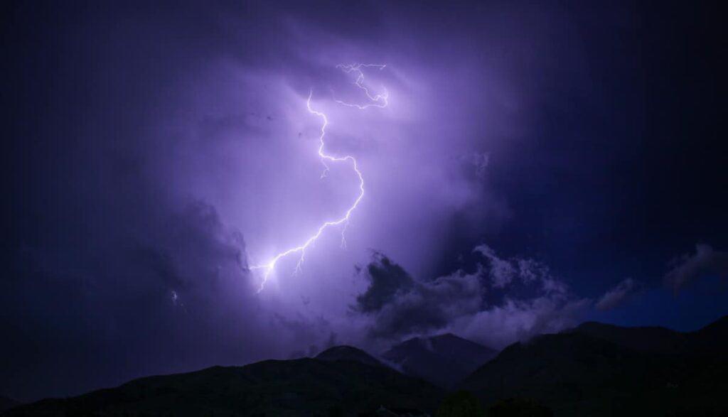 lightning-striking-mountains