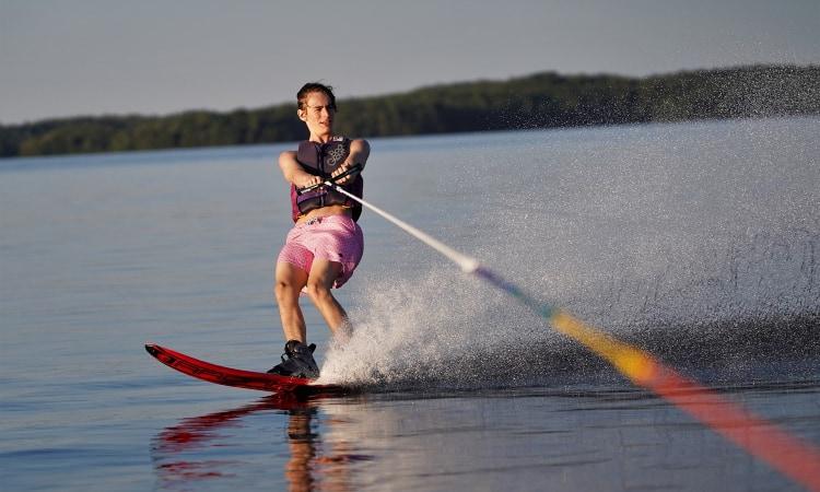 Ski Rope to a Pontoon Boat